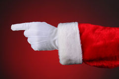 Santa Claus Hand Pointing Royalty Free Stock Image