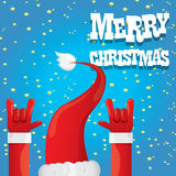 Santa Claus hand rock n roll vector illustration. Stock Photo