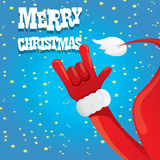 Santa Claus hand rock n roll vector illustration. Stock Image