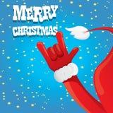 Santa Claus hand rock n roll vector illustration. Stock Image