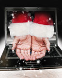 Santa Claus hands Royalty Free Stock Image