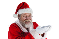 Santa claus with hands cupped Stock Photography