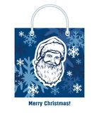 Santa Claus. Happy New Year. Merry Christmas. Vector fairytale character on a white background stock illustration