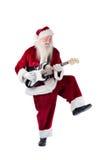 Santa Claus has fun with a guitar Stock Photo