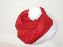 Santa Claus hat. In red and white royalty free stock photography