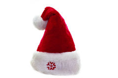 Santa Claus hat. Isolated on white Royalty Free Stock Image