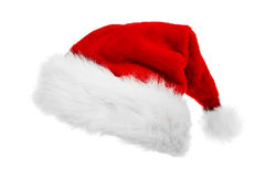 Santa Claus hat. Red Santa Claus hat on white background