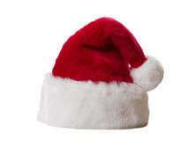Santa Claus hat. Isolated on white background Stock Image