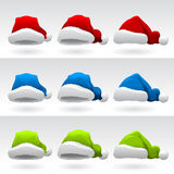Santa Claus Hat ( 3 Different Colors ) Royalty Free Stock Images