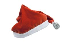 Santa claus hat. Over white Royalty Free Stock Image