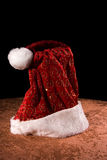 Santa Claus hat. Still life view of traditional Santa Claus hat Royalty Free Stock Image