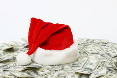 Santa Claus hat on backgreen Stock Photo