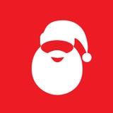 Santa claus hat beard flat icon design vector Stock Image