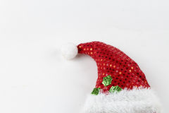 Santa Claus Hat. On Christmas isolated on a white background Stock Photography