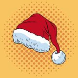 Santa claus hat Christmas pop art. Vector illustration graphic Royalty Free Stock Photos