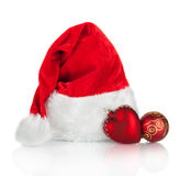 Santa Claus hat and Christmas toy  Stock Photography