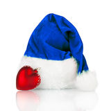 Santa Claus hat and Christmas toy  Royalty Free Stock Photography