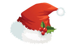 Santa Claus hat collection Royalty Free Stock Photo