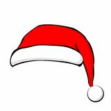 Santa Claus hat in flat style. Vector Illustration.  Royalty Free Stock Photos