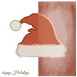Santa Claus hat. Graphic design - Santa Claus hat, vintage royalty free illustration