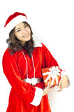 Santa claus hat with grey christmas Stock Images