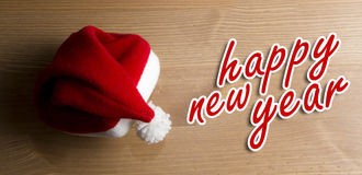 Santa claus hat. happy new year Royalty Free Stock Photography