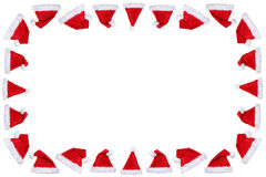 Santa Claus hat hats on Christmas frame copyspace copy space win Stock Photo
