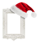 Santa Claus hat hung on the vintage frame Stock Photography