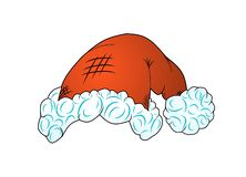 Santa Claus hat illustration isolated but on white background stock illustration