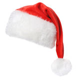 Santa Claus hat. Isolated on white background Stock Photography