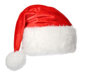 Santa Claus hat. Isolated on white background Royalty Free Stock Photography