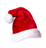 Santa Claus hat. Isolated on white background Royalty Free Stock Images