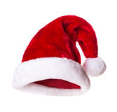 Santa Claus hat. Isolated on white background Royalty Free Stock Photo
