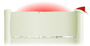 Santa Claus Hat On Merry Christmas Parchment Backg Stock Images