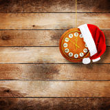 Santa Claus hat on New Year's night Stock Photos