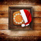 Santa Claus hat on New Year's night Royalty Free Stock Photo