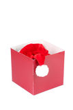 Santa Claus hat in present box Royalty Free Stock Images