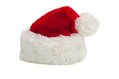 Santa Claus hat on a white background stock images