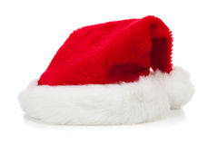 Santa Claus hat on a white background royalty free stock photos
