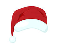 Santa Claus hat. On white background Royalty Free Stock Photography