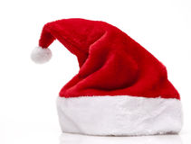 Santa Claus Hat. On white background Stock Image