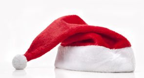 Santa Claus Hat. On white background Stock Photography