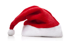 Santa Claus Hat. On white background Royalty Free Stock Photo