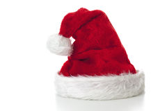 Santa Claus hat on white background Stock Photography