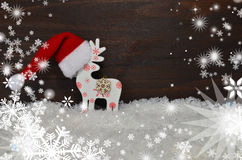 Santa Claus hat  wooden background Royalty Free Stock Photography