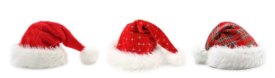 Santa Claus hats Royalty Free Stock Images