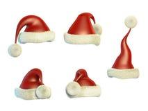 Santa Claus hats Stock Photos