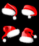 Santa Claus hats Stock Photography