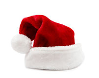 Santa Claus hats. Red Santa Claus hats isolated on white background Stock Images