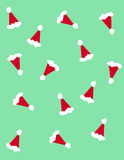 Santa claus hats Stock Image